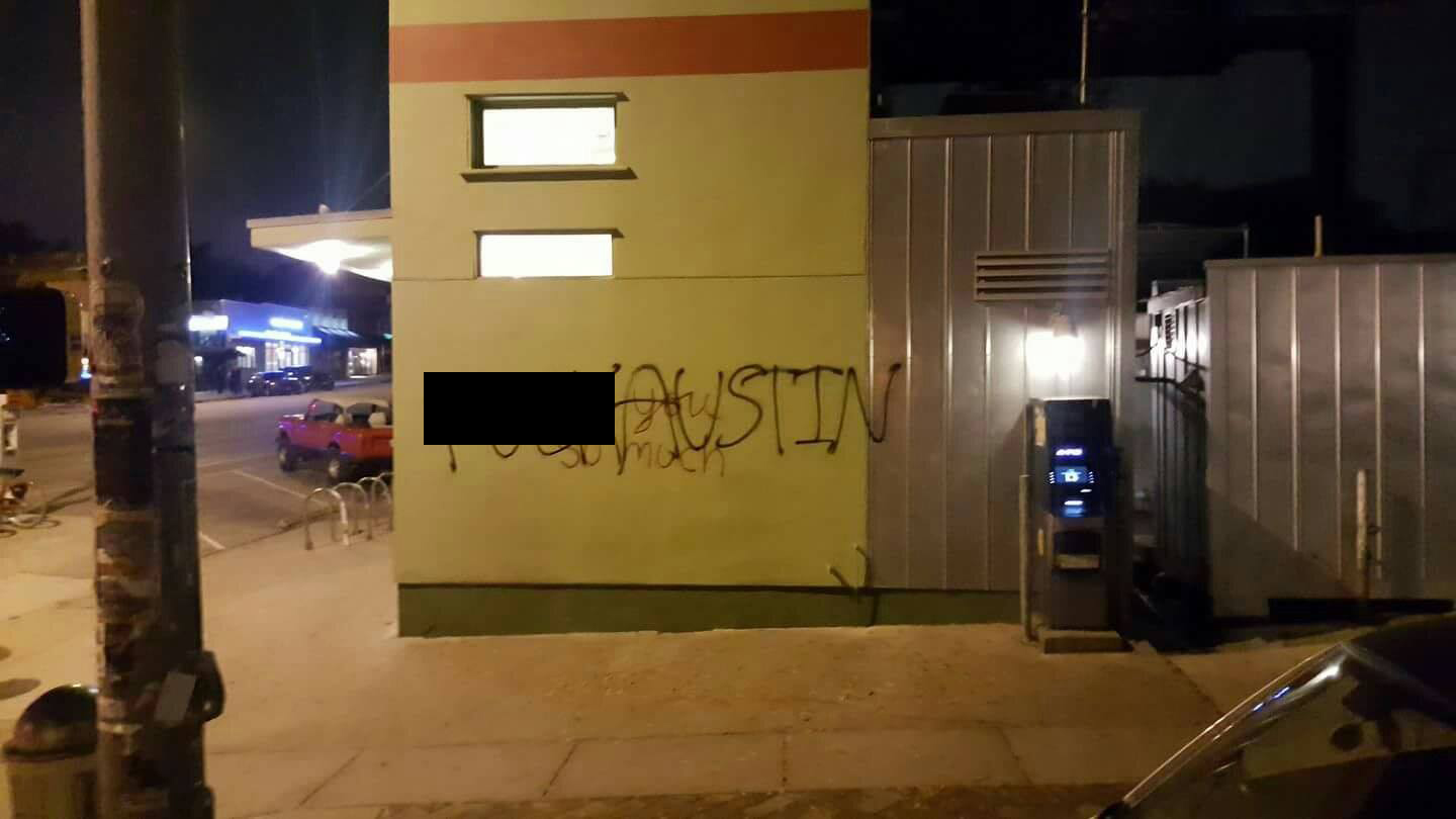 Expletive Spray Painted On Beloved 'I Love You So Much