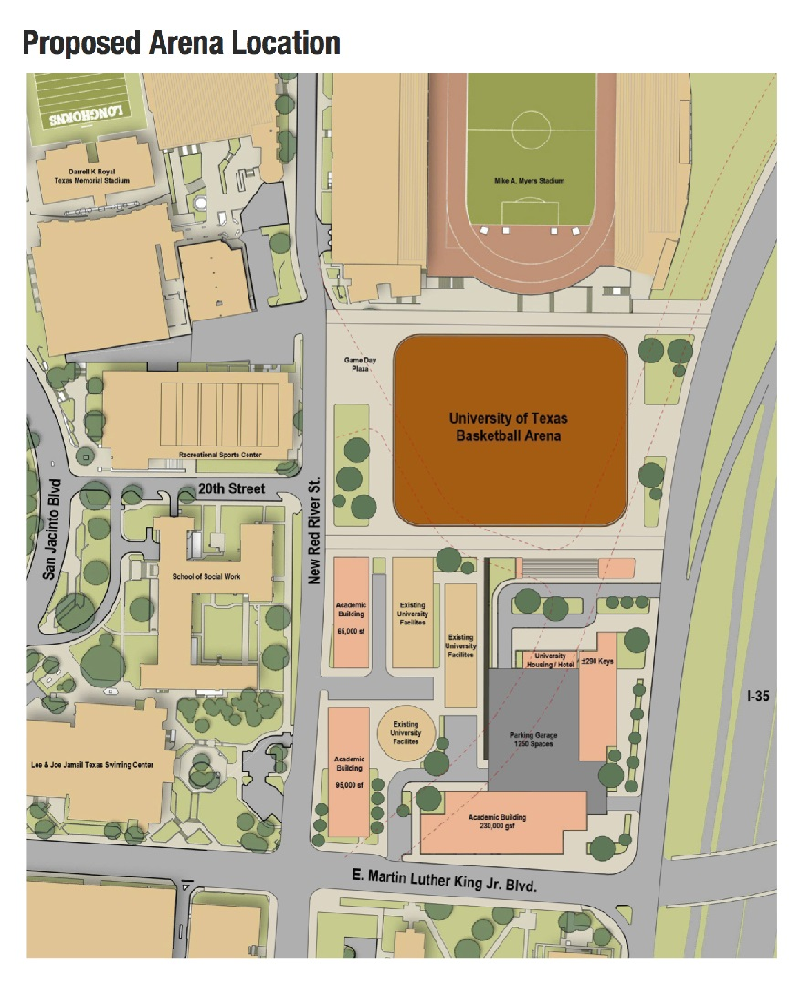 Warriors Proposed New Stadium Location: UT To Build New Basketball Arena On Campus