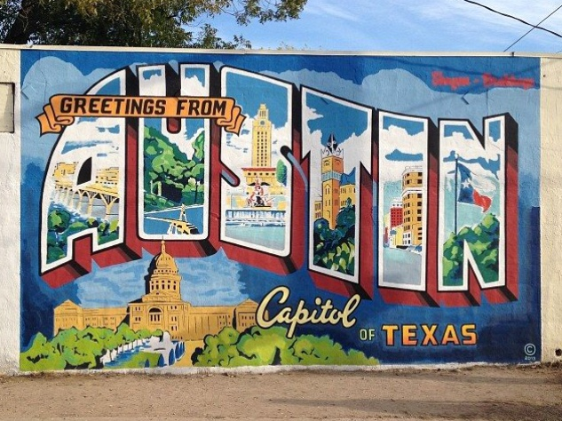 Austin launches program to save arts organizations from for Austin mural wall