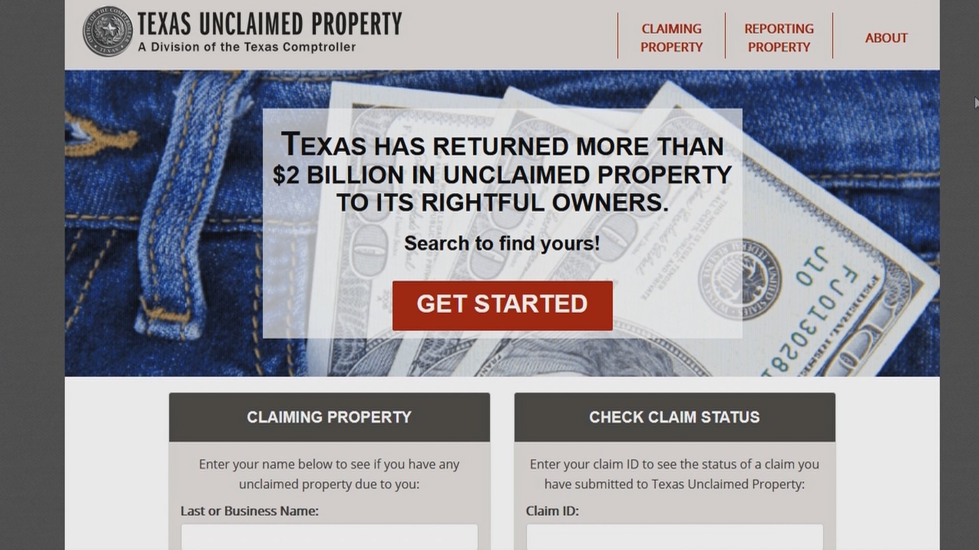Unclaimed Property Website Texas
