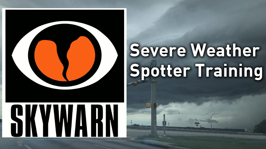 Severe weather spotter training this Saturday